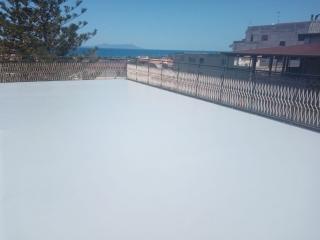 impermeabilizzazione terrazzo con resina poliureica realizzato a Capo D'Orlando - Colorflooring