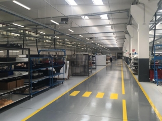 Pavimento in resina settore Aerospace - Color flooring