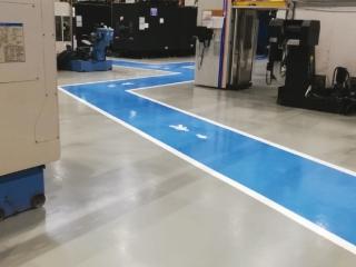 Pavimento di resina settore Aerospace - colorflooring