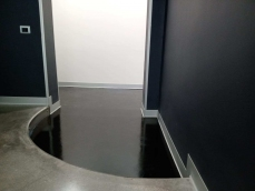 Cemento in Resina epossidica decorativa nera - Uffici