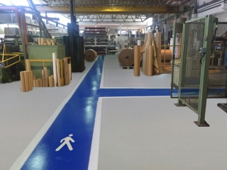 Pavimento industriale per Industrie operanti nel settore  Tipografico