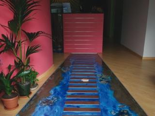 Pavimento con effetto in 3D