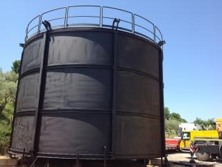 Verniciatura serbatoio di Biogas