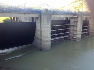 Verniciatura Pareti della diga del fiume Crati di Cosenza