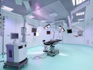 Pavimento in resina di una sala operatoria