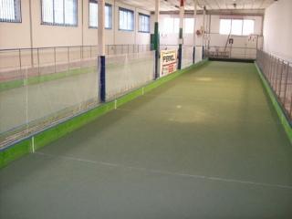 Pavimento in resina di un Campo da bocce- colorflooring